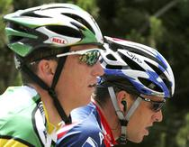 Tyler Hamilton, alaturi de Lance Armstrong