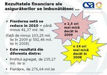 Rezultatele asiguratorilor in 2010