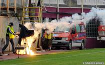 Incidente in partida FC Rapid - FC Brasov