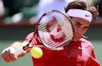 Roger Federer, in actiune la Roland Garros