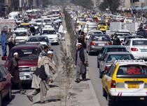 Traficul din Kabul, capitala afghana