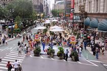 Herald Square, dupa regandirea Broadway-ului