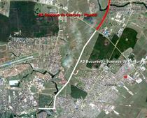 Intrarea A3 in Bucuresti - Vedere satelit