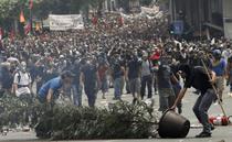 Protestatari in Atena