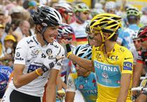 Schleck si Contador la Turul Frantei din 2010