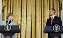 Angela Merkel si Barack Obama la Casa Alba