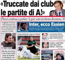 Prima pagina a cotidianului Corriere dello Sport