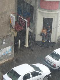 Ploaie in centrul Bucurestiului