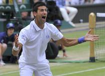 Novak Djokovic, fericit dupa victoria cu Tsonga