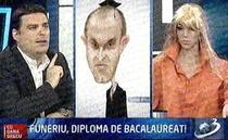 Papusa PDL si caricatura lui Funeriu la Antena 3
