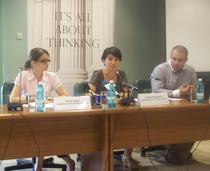 Elena Iorga, Violeta Alexandru si Adrian Moraru la lansarea studiului IPP