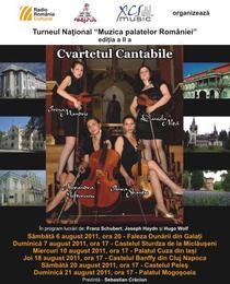Muzica Palatelor Romaniei cu Cvartetul Cantabile