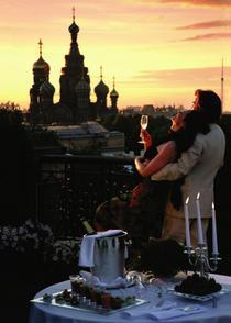 Vedere de pe terasa Grand Hotel Europe
