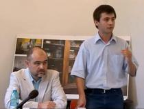 Secventa din cadrul dezbaterii publice de la Bucuresti