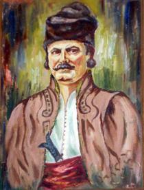 portretul haiducului Iancu Jianu (Muzeul memorial de la Caracal)