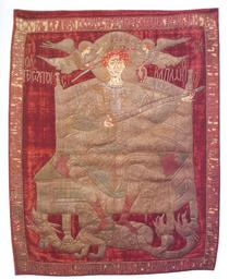 Steagul lui Stefan cel Mare expus la MNIR