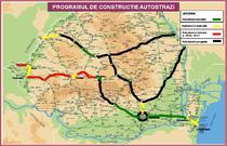 Harta autostrazilor care vor fi construite in Romania