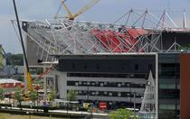 Stadionul din Enschede: o parte din acoperis s-a prabusit