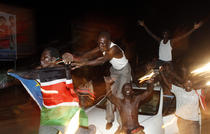 Bucurie pe strazile din Juba