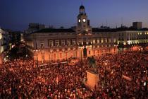 Proteste la Madrid