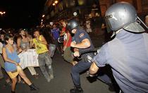 Violente in piata centrala din Madrid