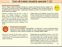 situatii speciale
