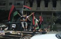 Libieni din Misrata celebrind intrarea rebelilor in Tripoli