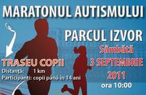 """Afisul evenimentului """"Maratonul autismului"""""""