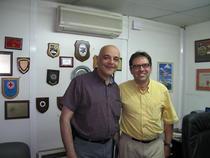 Raed Arafat in biroul din Targu-Mures alaturi de dr.Cristian Boeriu