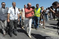 Traian Basescu a vizitat santierul autostrazii Bucuresti-Ploiesti