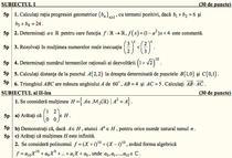 Subiectele la matematica