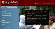 Alerta postata pe site-ul Universitatii Virginia Tech