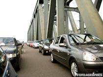 Circulatie pe podul peste Dunăre de la Cernavoda