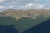 Vedere din Curmatura Oltetului spre Valea Latoritei