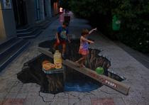 Fotogalerie: Pictura stradala tridimensionala realizata de Manfred Stader
