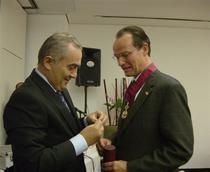 Ambasadorul Lazar Comanescu,Gunther Krichbaum MdB (dr.)