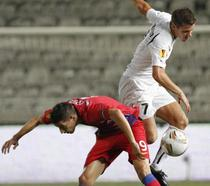 Steaua, evolutie modesta cu AEK Larnaca