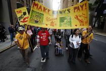 Protest anti-bancar in San Francisco