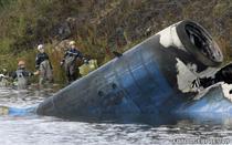 Epava avionului Yak-42 prabusit la Iaroslavl