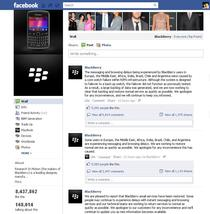 Comunicate oficiale RIM pe Facebook