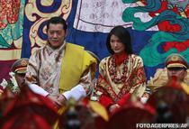 Regele Bhutanului si noua sa regina