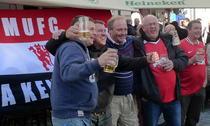 Suporteri ai lui Manchester in centrul Bucurestiului