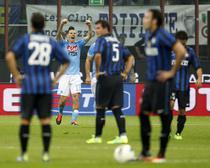 Hamsik, bucuria golului: 3-0 pe terenul lui Inter