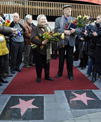 Draga Olteanu si Mircea Albulescu pe Walk Of Fame