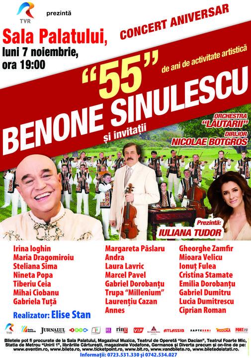 afis concert Benone Sinulescu