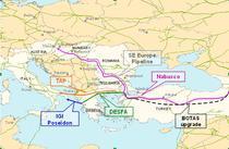 Harta conductelor inscrise in lupta pentru gazele azere