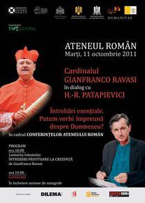 Cardinalul Gianfranco Ravasi si H.R.Patapievici in dialog la Ateneul Roman