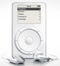 Primul iPod, lansat in 2001