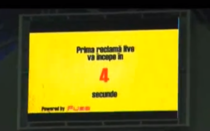 Prima reclama transmisa live