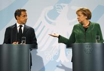Sarkozy si Merkel, la Berlin